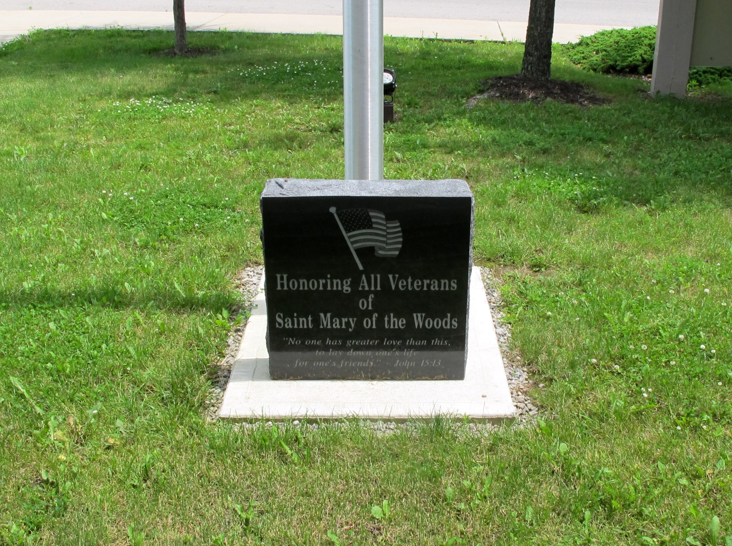 St. Mary of the Woods Veterans Memorial Marker