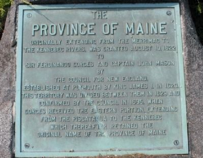 Province of Maine Marker Marker image. Click for full size.