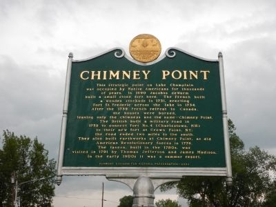 Chimney Point Marker image. Click for full size.