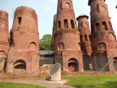 The remains of the Saylor cement factory-museum image. Click for full size.