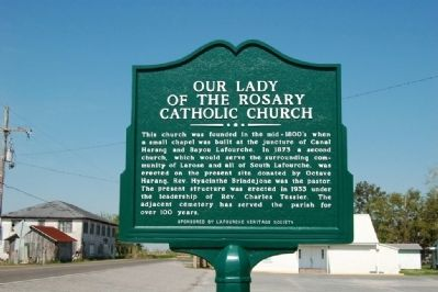 Our Lady of the Rosary Catholic Church Marker image. Click for full size.