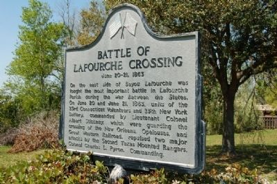 Battle Of Lafourche Crossing Marker image. Click for full size.