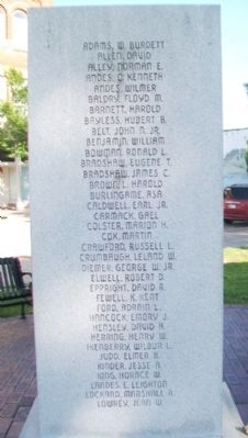War Memorial Roll of Honored Dead image. Click for full size.