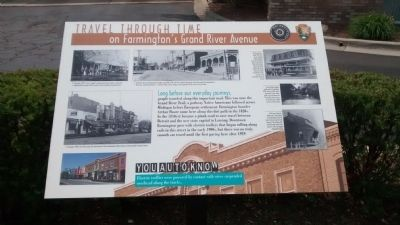 Travel Through Time on Farmington's Grand River Avenue Marker image. Click for full size.