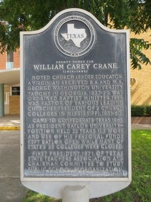 William Carey Crane Marker image. Click for full size.