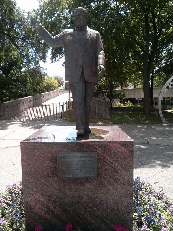 Statue of Orville L. Hubbard at Dearborn Town Hall Complex image. Click for full size.
