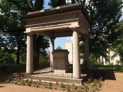 Tomb of President James K. Polk and First Lady Sarah C. Polk image. Click for full size.