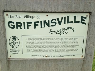 The Real Village of Griffinsville Marker image. Click for full size.