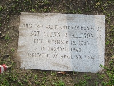 Sgt. Glenn R. Allison Marker image. Click for full size.