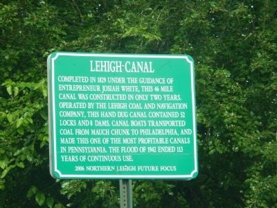 Lehigh Canal Marker image. Click for full size.