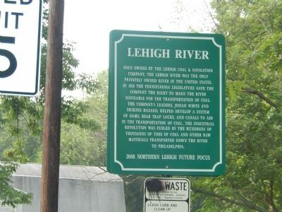 Lehigh River Marker image. Click for full size.