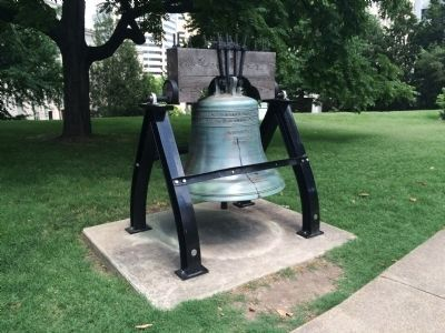 Replica of the Liberty Bell on the eastern grounds of the Tennessee State Capitol. image. Click for full size.