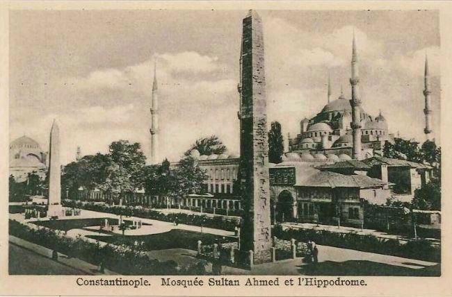 <i>Constantinople. Mosquée Sultan Ahmed et l&#39;Hippodrome.</i> image. Click for full size.