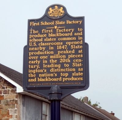 First School Slate Factory Marker image. Click for full size.