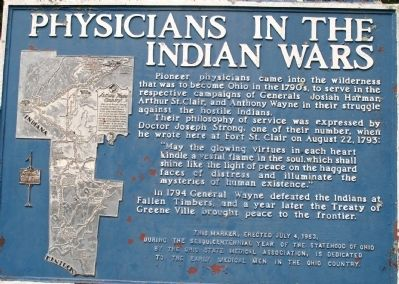 Physicians of the Indian Wars Marker image. Click for full size.