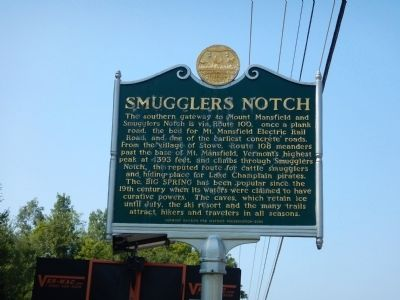 Smugglers Notch Marker image. Click for full size.
