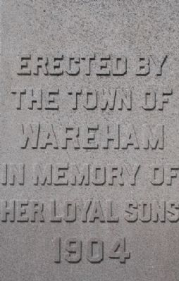 Wareham War Memorial Marker image. Click for full size.