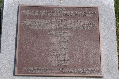 SS Blackpoint Memorial Marker image. Click for full size.