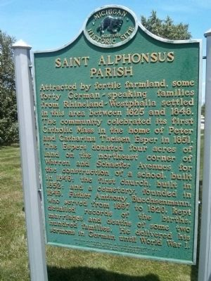 Saint Alphonsus Parish Marker image. Click for full size.
