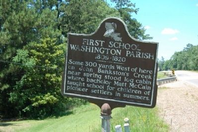 First School Washington Parish Marker image. Click for full size.