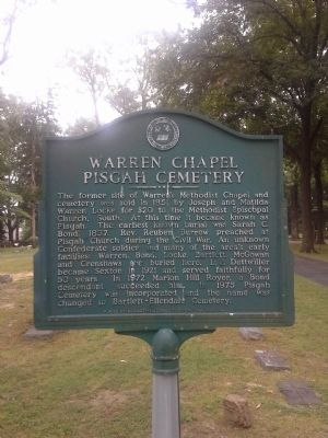Warren Chapel Pisgah Cemetery Marker image. Click for full size.