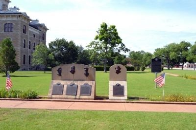 Soldiers and Sailors Markers<br>at Shackelford County Courthouse Grounds image. Click for full size.
