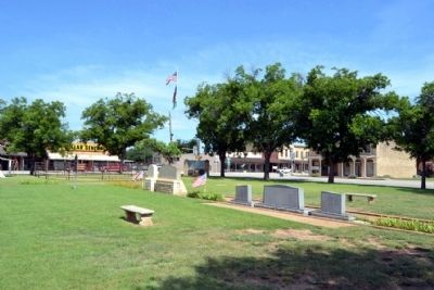 View to Northwest towards Intersection<br>of S. Main Street (US 283) and S. 2nd Street (SH 6) image. Click for full size.