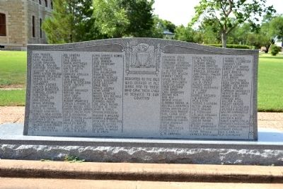 Shackelford County War Memorial image. Click for full size.