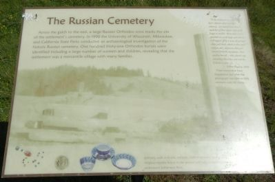 The Russian Cemetery Marker image. Click for full size.