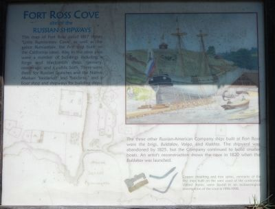 Fort Ross Cove Marker image. Click for full size.