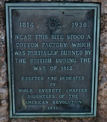 Warham Cotton Factory Memorial Marker image. Click for full size.