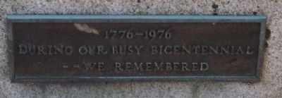 Wareham Bicentennial War Memorial Marker image. Click for full size.