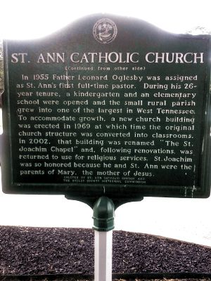 St. Ann Catholic Church Marker image. Click for full size.