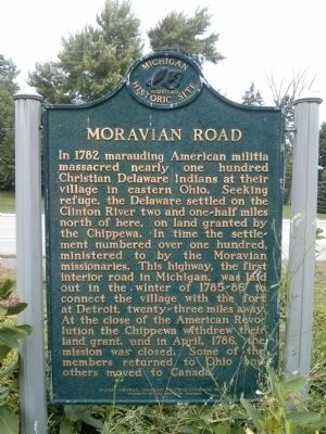 Moravian Road Marker image. Click for full size.