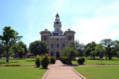 West Elevation of Shackelford County Courthouse image. Click for full size.