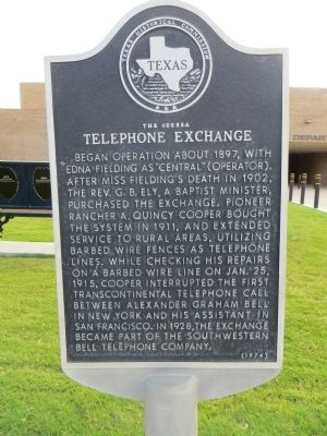 The Odessa Telephone Exchange Marker image. Click for full size.