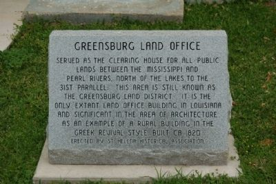 Greensburg Land Office Marker image. Click for full size.