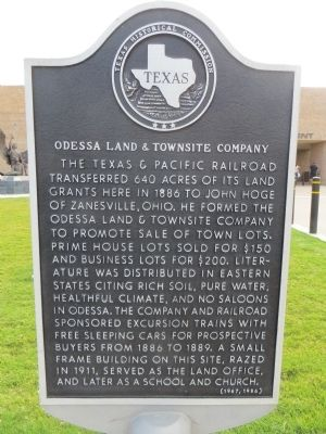 Odessa Land & Townsite Company Marker image. Click for full size.