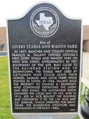 Site of Livery Stable and Wagon Yard Marker image. Click for full size.