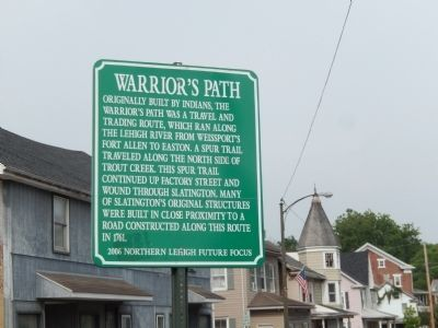 Warrior's Path Marker image. Click for full size.