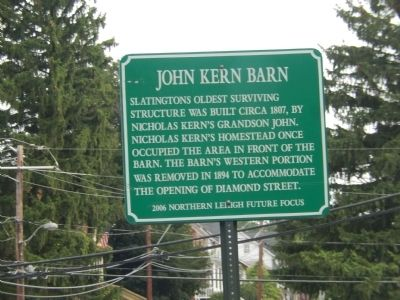 John Kern Barn Marker image. Click for full size.