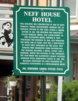 Neff House Hotel Marker image. Click for full size.