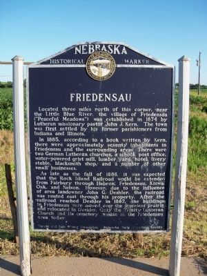 Friedensau Marker image. Click for full size.