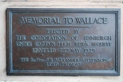 Memorial to William Wallace image. Click for full size.