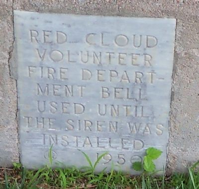 Red Cloud Volunteer Fire Department Bell Marker image. Click for full size.