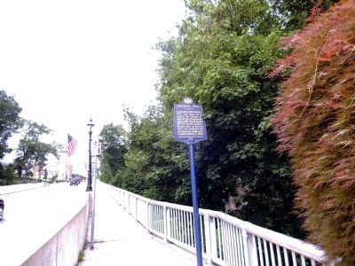 Truckers Mill Marker on the General Thomas R. Morgan bridge image. Click for full size.