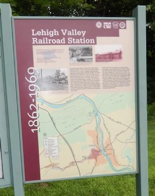 Lehigh Valley Railroad Station Marker image. Click for full size.