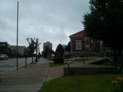 Carnegie Library and Marker - from Macomb Place image. Click for full size.