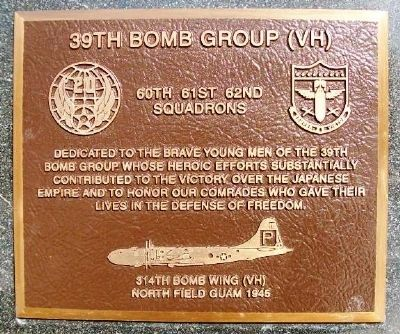 39th Bomb Group (VH) Marker image. Click for full size.