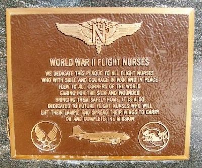 World War II Flight Nurses Marker image. Click for full size.
